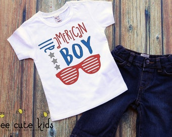 All American Boy - 4th of July Shirt - Boys 4th of July - Independence Day Shirt - American Boy Shirt - Red White & Blue - Kids 4th of July