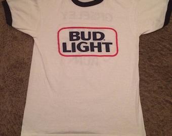 Vintage 1980s Bud light shirt