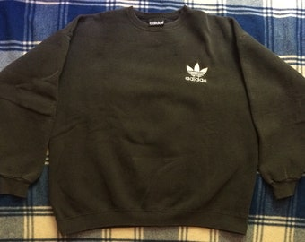 Vintage Adidas Crewneck Faded black, xl