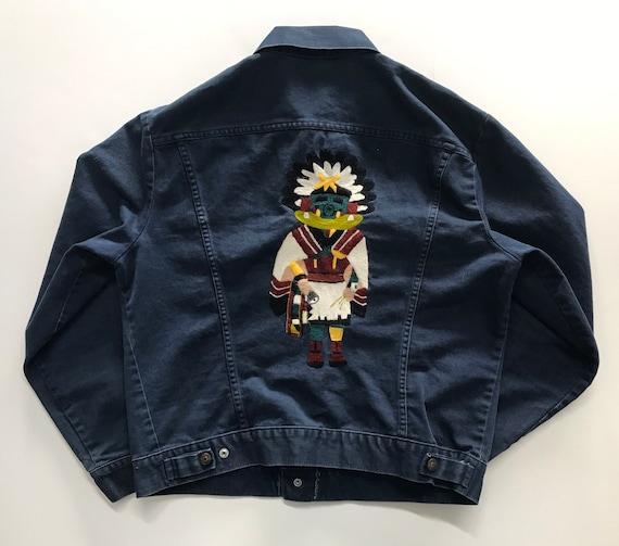 Vintage 1970s Levi Denim Jeans Jacket Medium Blue