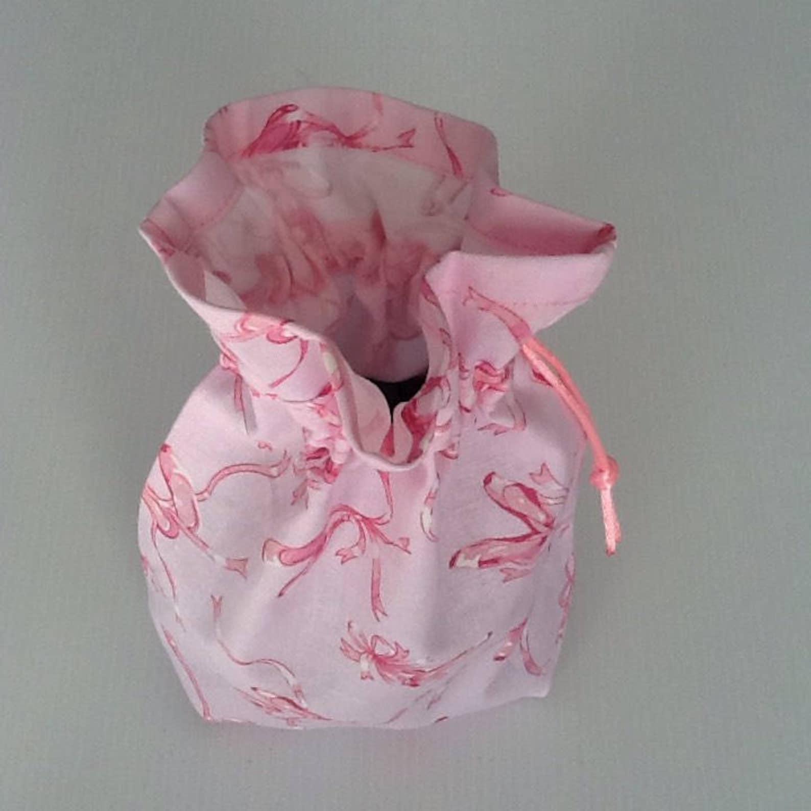 draw string bag / dog poopbag bag / ballet shoes / dog treat bag / collar accessories / dog lead attachment / australian handmad