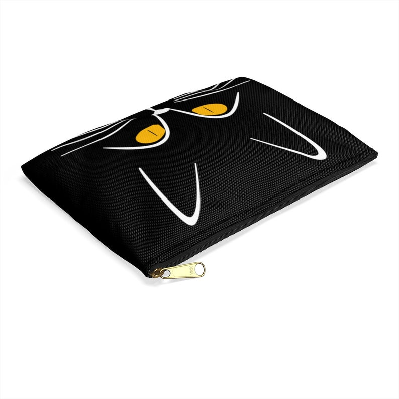 Cat Eyes cute yellow kitten whiskers Accessory Pouch,all purpose zipper pouch makeup pouches,small purses