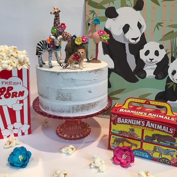 Wild Ein Geburtstag Madchen Dekorationen Zootiere Kuchen Etsy