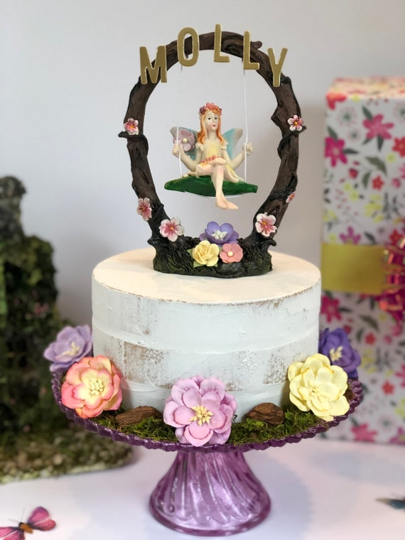 Fairy Cake Topper Fairy Party Decorations Fairy First Birthday Baby Shower Woodland Party Fairy Princess Tea Party Enchanted Forest Party