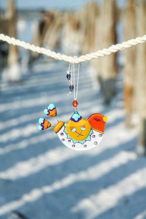 Deco pendant bird colorful spring