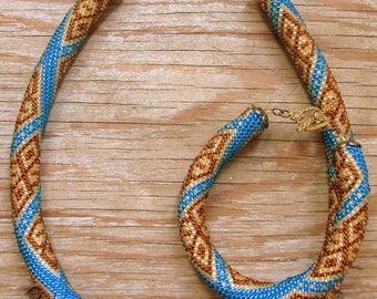 Bead Crochet Necklace Pattern, pattern for bead crochet necklace, Bead Crochet Tutorial Bracelet Pattern