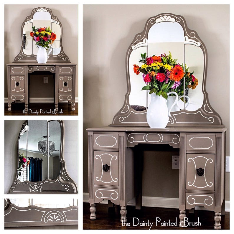 Surprising Sold Example Painted Furniture Painted Vanity Shabby Chic Vintage Furniture Shabby Chic Furniture Vanity Antique Vanity Custom Order Download Free Architecture Designs Terstmadebymaigaardcom