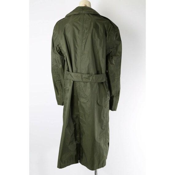 Vintage Unbranded Olive Green Nylon Trench Rain C… - image 6