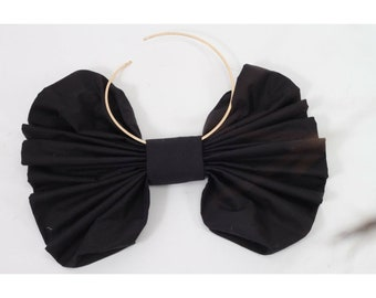 Ajlena Nanic Black Oversized Bow Choker Necklace