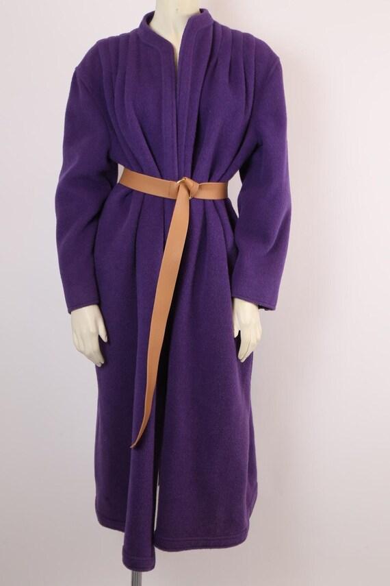 Vintage VALENTINO Boutique Purple Long Coat Size 1