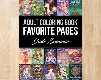 Favorite Pages By Jade Summer Coloring Books Adult For Adults