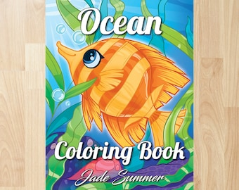 ocean coloring book by jade summer coloring books coloring pages adult coloring books adult coloring pages coloring books for adults