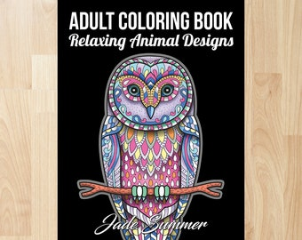 relaxing animal designs by jade summer coloring books coloring pages adult coloring books adult coloring pages