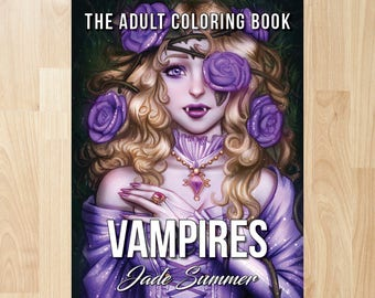 Vampires by Jade Summer (Coloring Books, Coloring Pages, Adult Coloring Books, Adult Coloring Pages, Coloring Books for Adults)