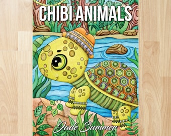 Chibi Animals by Jade Summer (Coloring Books, Coloring Pages, Adult Coloring Books, Adult Coloring Pages, Coloring Books for Adults)