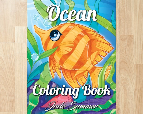 Ocean Coloring Book by Jade Summer Coloring Books Coloring | Etsy
