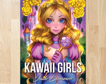 Kawaii Girls by Jade Summer (Coloring Books, Coloring Pages, Adult Coloring Books, Adult Coloring Pages, Coloring Books for Adults)