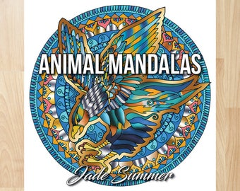 Animal Mandalas by Jade Summer (Coloring Books, Coloring Pages, Adult Coloring Books, Adult Coloring Pages, Coloring Books for Adults)