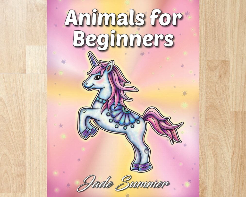 Animals for Beginners by Jade Summer Coloring Books Coloring | Etsy