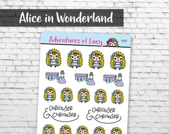 Alice sticker sheet, planner stickers