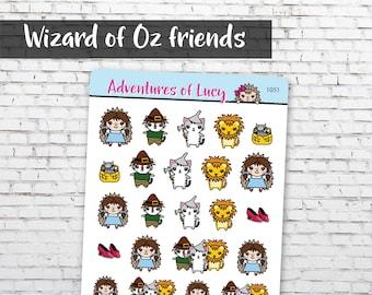 Wizard of Oz Friends sticker sheet, planner stickers