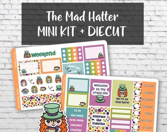 The Mad Hatter Mini Kit, Planner Stickers