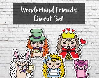 Wonderland Friends Diecut Set, Planner Die Cuts