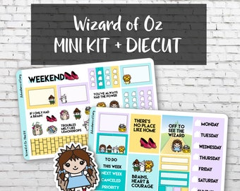 Wizard of Oz Mini Kit, Planner Stickers