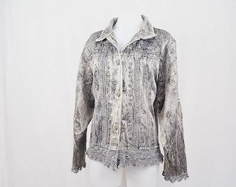 Silver Beaded Bohemian Vintage Jacket