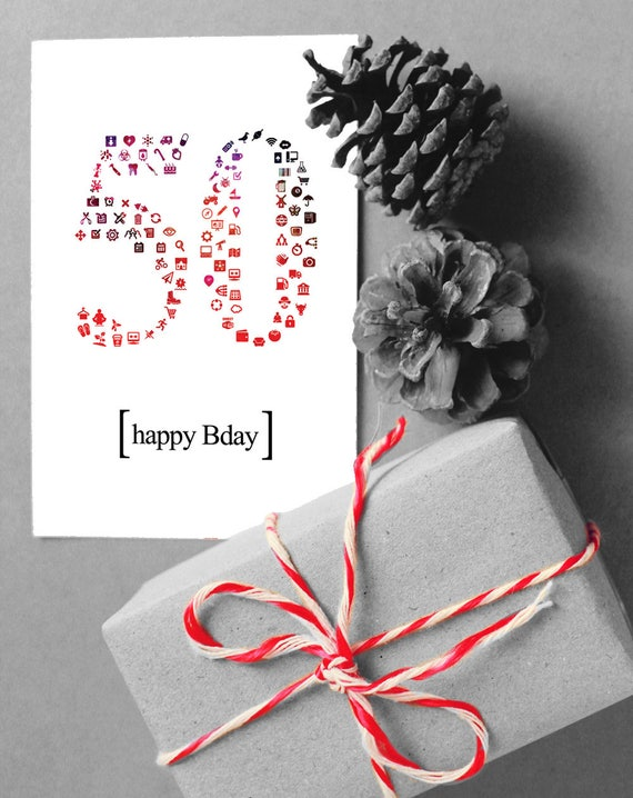 4 Printable Happy Birthday Card Customized Numbered 40 To 55