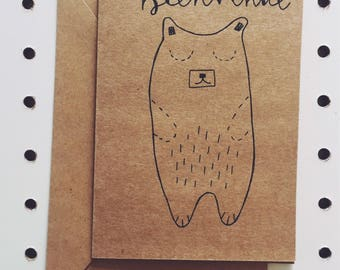 """""""Welcome"""" greeting card"""