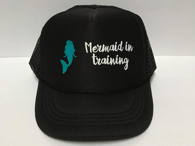 617ed0e07b18c Mermaid Youth Hat Mermaid In Training Kids Mermaid Trucker
