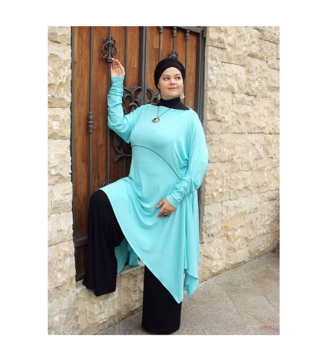 Plus Size Turquoise Boho Tunic Jersey Clothing Extra Large Etsy