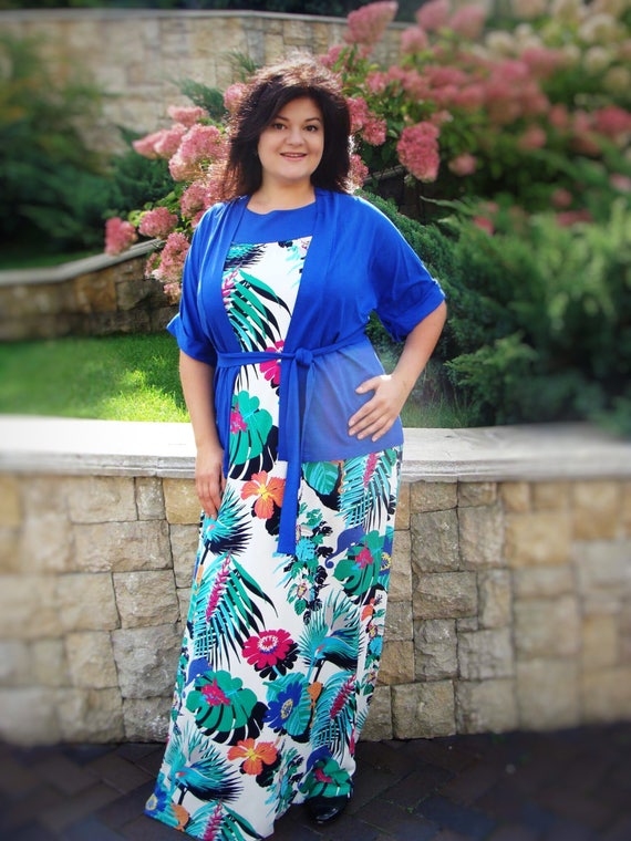 9fd2d637cdb Maxi dress plus size boho clothing extra large size