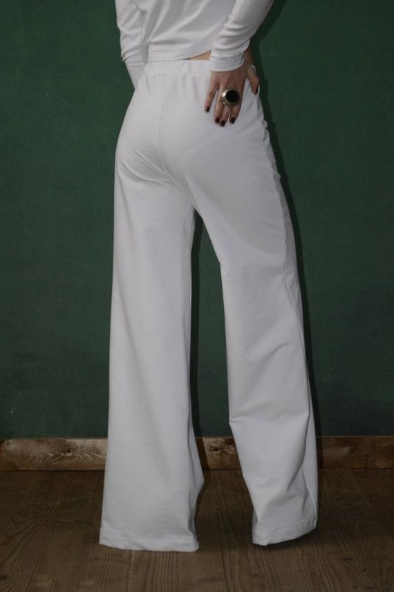 c0d9d8a4f69 White Elegant Wide Bohemian Pants Harem Pants Plus Size