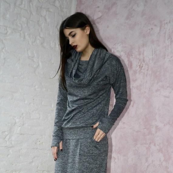 e4e430cc0ea Melange sport shirt Plus Size Clothing Jersey melange