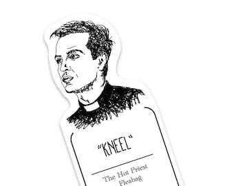 Hot Priest Kneel Poster Minimal Print Fan Art Card Comedy TV Show Gift FLEABAG