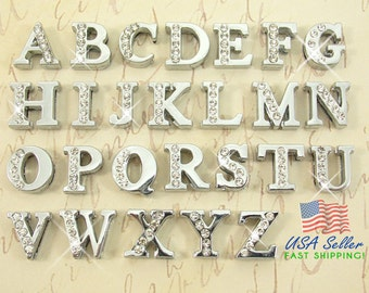 Rhinestone letters etsy pick choose your own slide letters charms wholesale half rhinestone 8mm pick choose your own a z alphabet rhinestone slide charm letters spiritdancerdesigns Choice Image