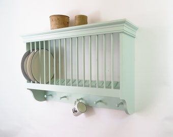 Traditional Wooden Wall Mounted Kitchen Plate Rack By Beaufort U0026 Dunham