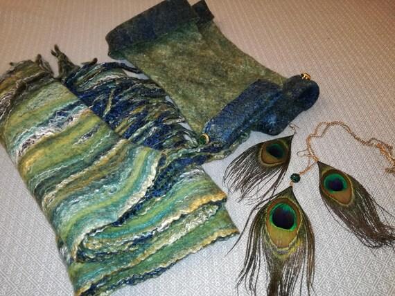 """Set of """"Malachite"""" Merino Wool"""