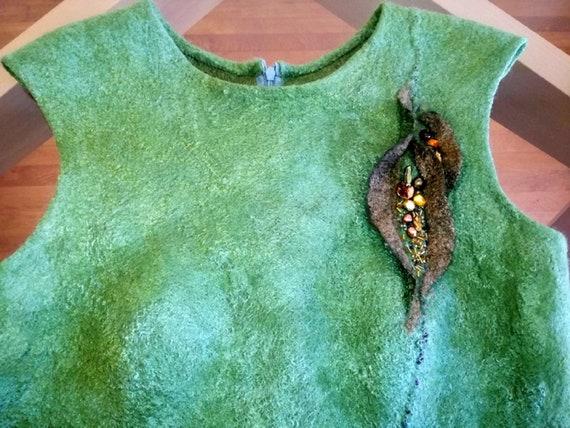 Merino Wool Dress / dress nuno felt