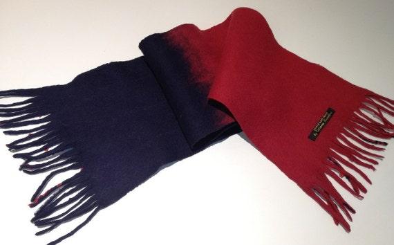 Felted merino wool scarf