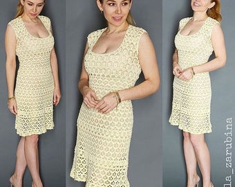 115dcf540a6 Summer Woman Dress Instant Download crochet pattern