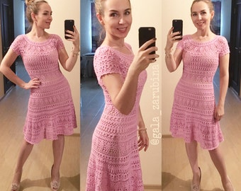 Woman Dress Kelly Instant Download Crochet Pattern Detailed Tutorial summer lace