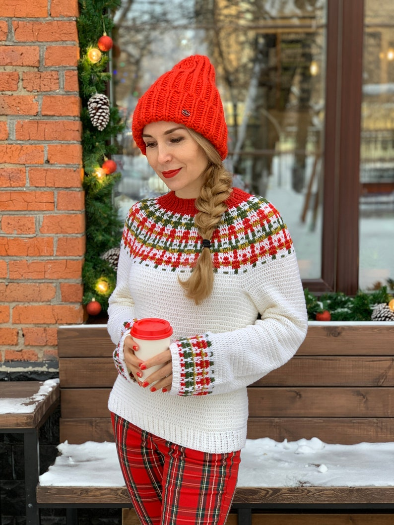 XS-5X plus size fit Crochet sweater pattern for women Christine extended size chart