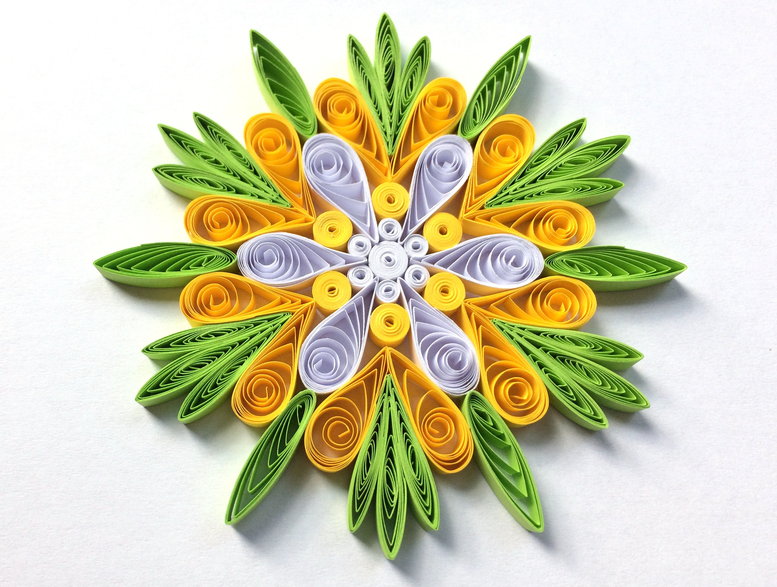 Snowflake Paper Quilling Art Christmas Hanger Baby Gift Bridal