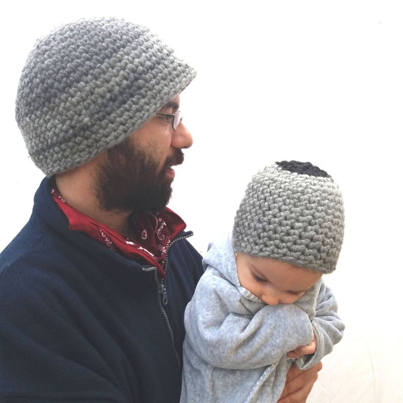 Daddy and son gift Valentine Woolen beanies Father and baby  edf578fbeb23
