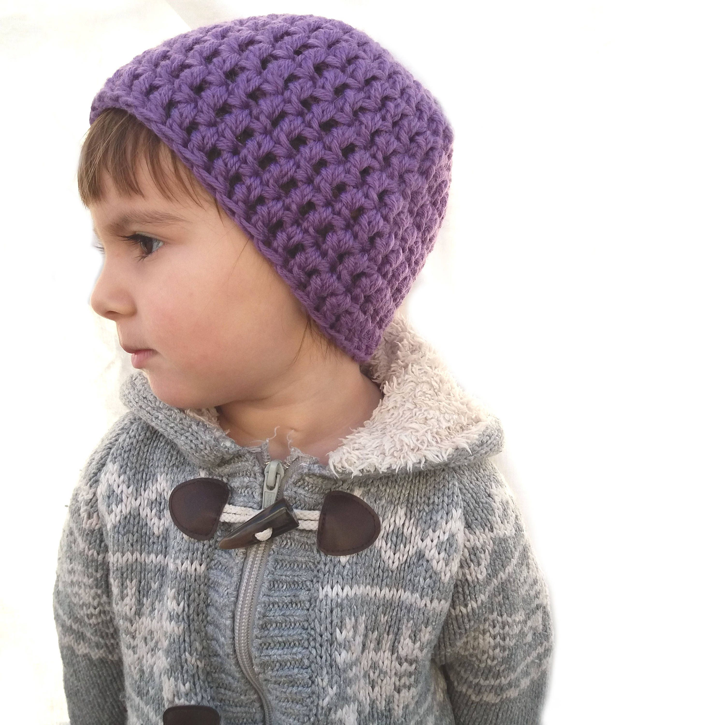 Eco gift ideas for toddlers Vibrant purple hat Wool Clothing  ec47a5285759