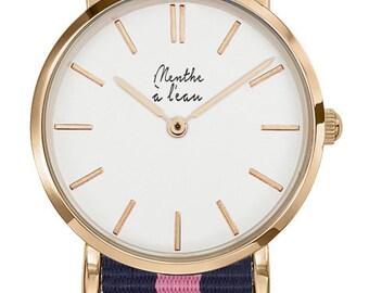 Blue rose women's watch