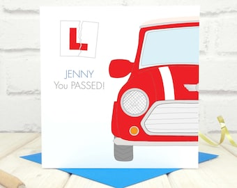 Driving Test Card - Passed Driving Test - Personalised Driving Test Card - Congratulations on Passing Your Test Card - New Driver Card